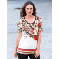 Emilia Lay Women Round neck top with short sleeves multi-coloured 92919388 NQJCCDK