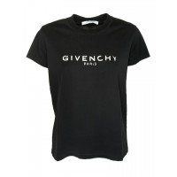 Women's Clothing Givenchy Distressed Logo Print T-shirt KPUGHAK