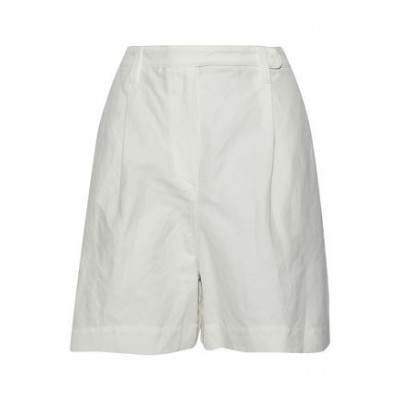 BRUNELLO CUCINELLI Women Pleated cotton and linen-blend shorts Shorts Cotton and linen-blend 7789028784122887 LNQWPVU