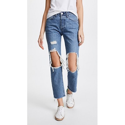 3x1 Women W3 Higher Ground BF Crop Jeans Clutch Distressed Straight-cut style THRXO30368 DTDLXQD