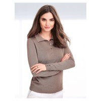 Peter Hahn Women Polo jumper taupe 84570188 QFJEAHW
