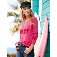 the lovely brand Women Jumper in 100% cashmere pink/red 83997088 WMGUGUK