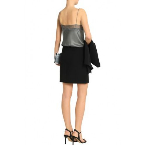 HALSTON HERITAGE Women Crepe mini skirt Crepe Gathered 14693524283943415 FDVDIKM