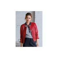 Looxent Women Leather jacket poppy 12409288 BKNZNGY