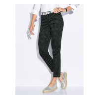 Peter Hahn Women 5-pocket trousers black/white stretch cotton leg breathable offers 63388688 OXFOZDM