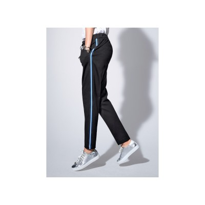 Peter Hahn Women Ankle-length trousers in jogger style black Casual easy slip styling plenty 61475088 GXLGJCZ