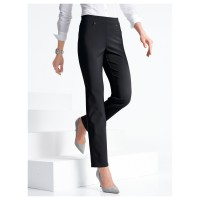 Peter Hahn Women Pull-on trouser black silhouette elasticated waistband great figure 63618688 EMVUXGA