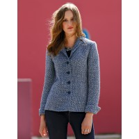 Uta Raasch Women Blazer in a bouclé look navy/multicoloured 11455688 HXGXTKL